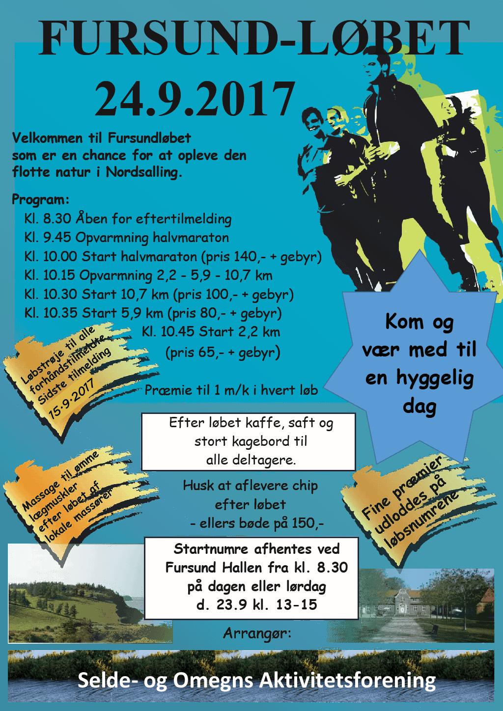 Fursundløbet 2017 plakat