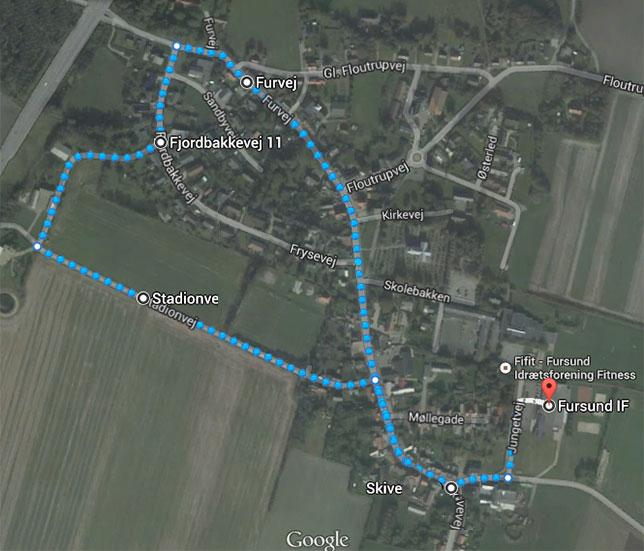 2 km. ruten