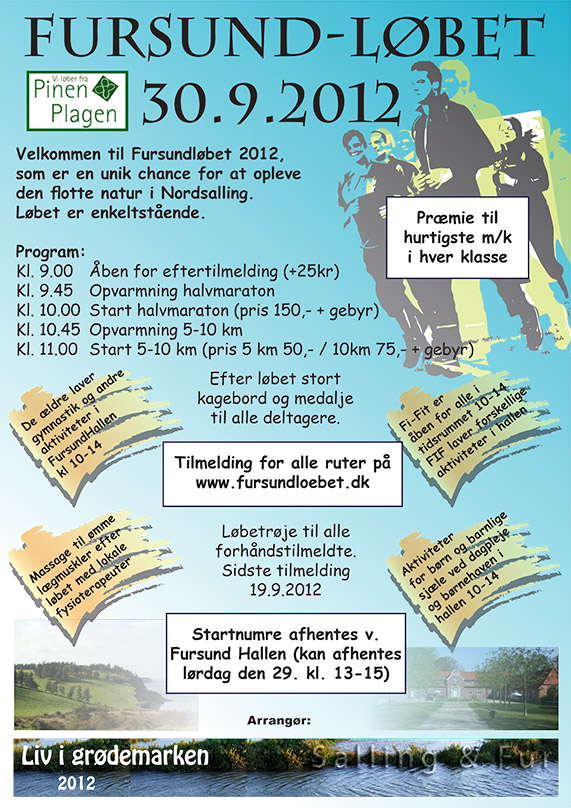 Fursundløbet 2012 plakat